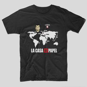 tricou-casa-de-papel-Map-negru