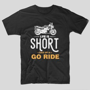 tricou-negru-moto-life-is-short-gas-up-and-go-ride