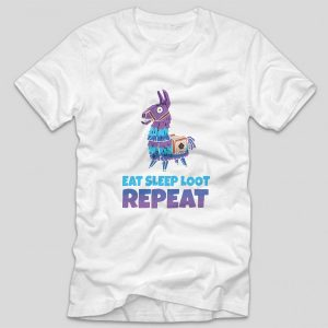 tricou-fortnite-eat-sleep-loot-repeat-alb