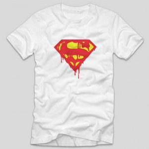 tricou-alb-superman-melt