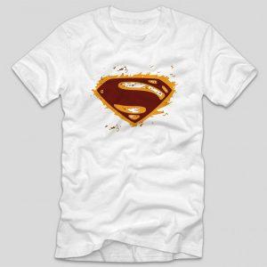tricou-superman-alb-grunge