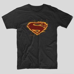 tricou-superman-negru-grunge