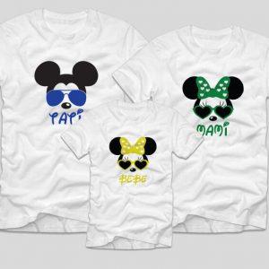 tricouri-familie-albe-tati-mami-bebe-mickey