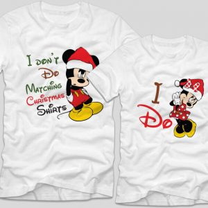 tricouri-albe-cupluri-craciun-matching-shirts-i-do-mickey-minnie