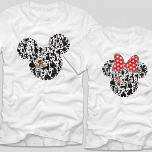 Tricouri-cupluri-albe-mickey-minnie-disney