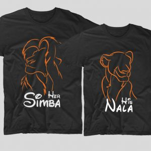 Tricouri-cupluri-negre-her-simba-his-nala