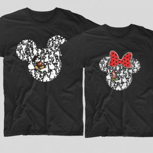 Tricouri-cupluri-negre-mickey-minnie-disney