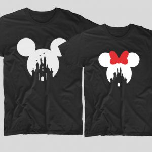tricouri-cupluri-negre-mickey-minnie-simple
