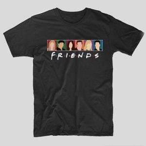 tricou-friends-cartoon-negru
