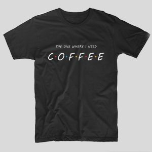 tricou-friends-mesaj-haios-coffee-negru