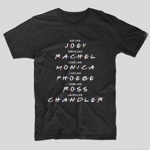 tricou-friends-negru-like