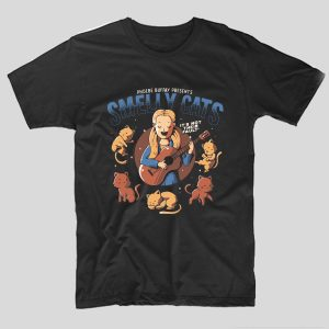 tricou-negru-smelly-cat-phoebe-buffay-presents