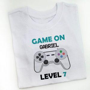 tricou-copii-game-on-nume-level-2