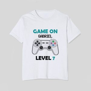tricou-copii-game-on-nume-level