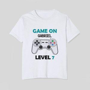 tricou-copii-game-on-nume-level