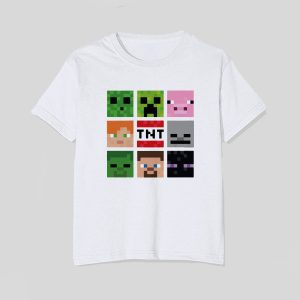 tricou-minecraft-copii-characters