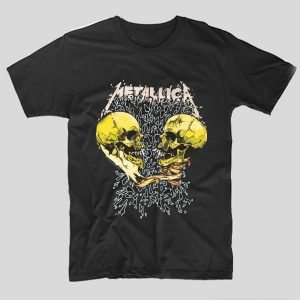 tricou-metallica-negru-yellow-skulls