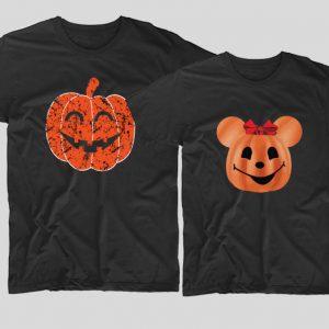 tricouri-halloween-cupluri-happy-pumpkins-negru