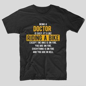 tricou-doctor-easy-like-riding-a-bike-negru