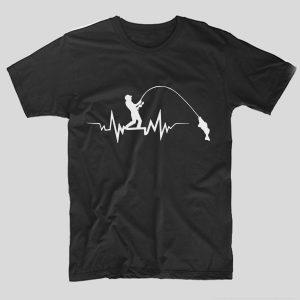 tricou-funny-pescari-pentru-pescuit-puls-tricou-negru