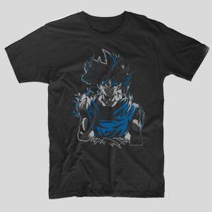 tricou-dragon-ball-blue-goku-negru
