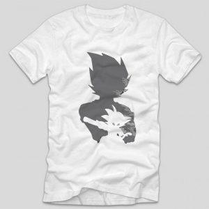 tricou-dragon-ball-goku-silhouette-alb
