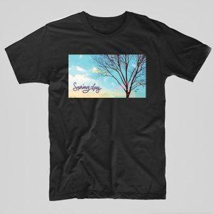 Tricou-Bts-Spring-Day-Tree-negru