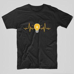 Tricou-electrician-puls-negru