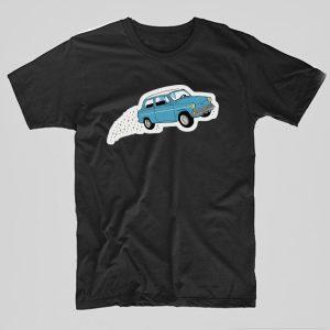 Tricou-Harry-Potter-Flying-Car-negru