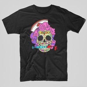 Tricou-Asistenta-Medicala-Skull-negru