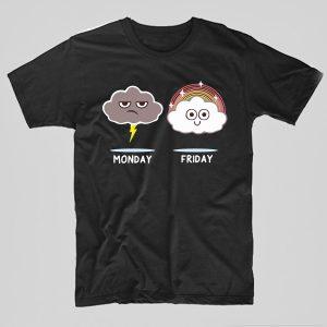 Tricou-Funny-Monday-negru