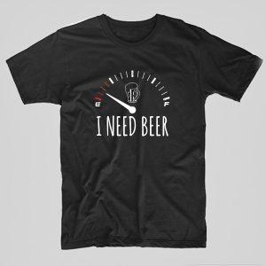 Tricou-Bere-i-need-beer-negru