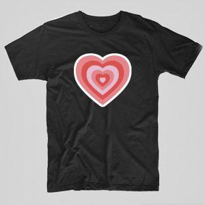 Tricou-PowerPuff-Girls-Heart-negru