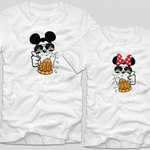 Tricouri-cupluri-Mickey-Minnie-Beer