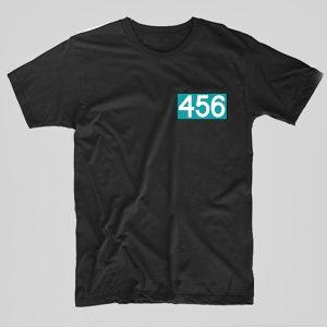 Tricou-Squid-Game-number-456-negru